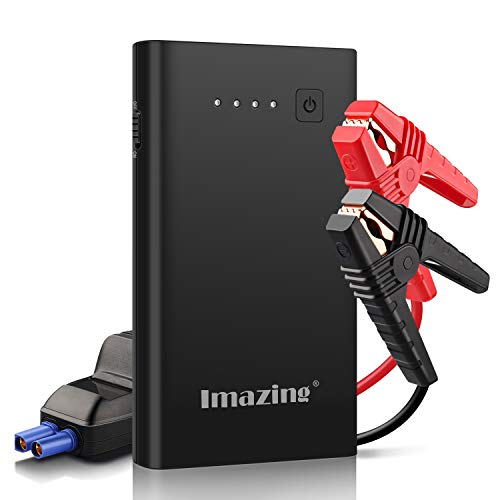Imazing Starthilfe Powerbank, 1000A Spitzstrom Tragbare Auto Starthilfe(bis zu 7.0L Benzin 5.5L Dieselmotor) 12V Autobatterie Anlasser mit Quick Charge 3.0, Dual USB, LED Taschenlampe