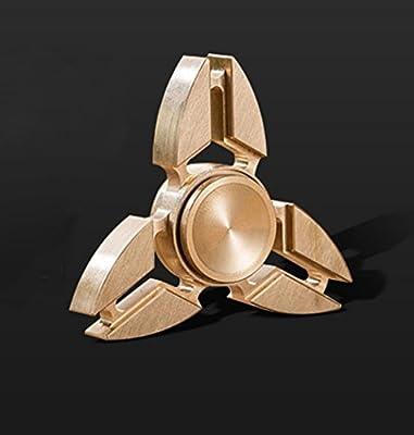 Trocent Hand Spinner Fidget Triángulo de juguete Spinner de mano Fidget ADHD Focus Toy Alta velocidad 2-6 minutos por giros Ultra duradero con cuerpo de cobre puro