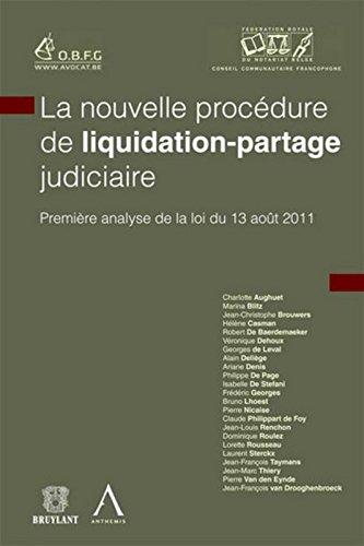 La nouvelle procédure de liquidation-partage judiciaire