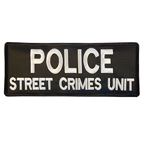 POLICE STREET CRIMES UNIT Large XL 10x4 inch Tactical Embroidered Touch Fastener Patch
