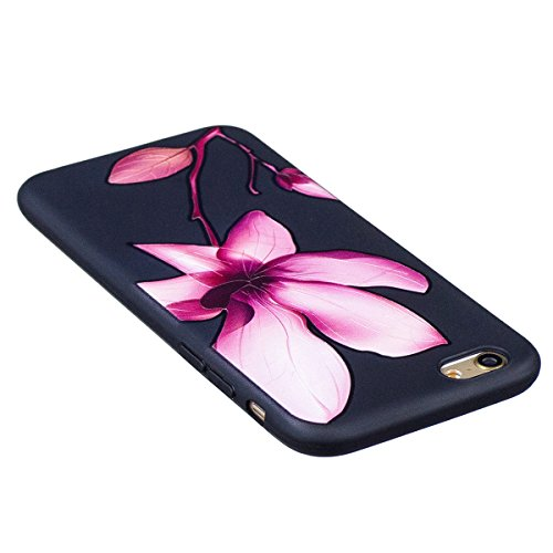 """MOONCASE iPhone 6/iPhone 6s Coque, [Relief Pattern] Flexible TPU Protection Housse Ultra Slim Armure Anti-choc Defender Etui Case pour iPhone 6/iPhone 6s 4.7"""" Butterfly Lotus"""