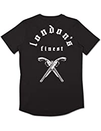 King Apparel Londons Finest Whitechapel Mens Short Sleeve T Shirt - Black/White