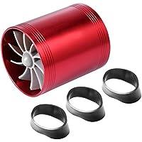Mikolot Sobrealimentador Del Ventilador Del Ahorrador de Combustible de La Admisión de Aire Del Turbocompresor Doble