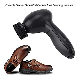 Zunate Schuhputzmaschine,Tragbare Multifunktional wiederaufladbar Schuh Polierer Pinsel Lederbürste Leder Schuhe Polieren Schuhpflege Bürste Reinigungsbürste,für Lederprodukte