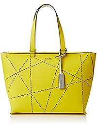 CALVIN KLEIN ACCESSORI - Sofie Perforated Large Tote, Bolso de mujer, amarillo, OS