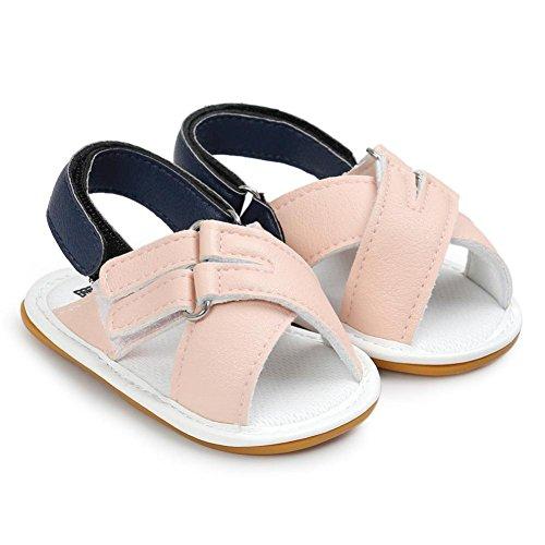 Igemy 1Paar Baby Jungen Mädchen Sandalen Casual Schuhe Sneaker Anti-Rutsch Soft Sole Kleinkind Rosa