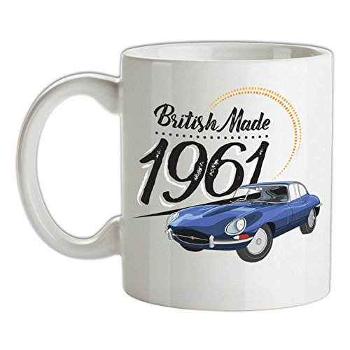British Made 1961 - E-Type - 10oz Ceramic Mug - White for sale  Delivered anywhere in Ireland
