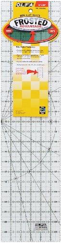 Olfa QR624 Quilten Lineal Anti-Rutsch, 6 x 24 Zoll -