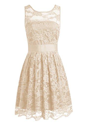 Find Dress Elégant Robe Demoiselle d'Honneur Princesse Mariée Femme Plissé Jupe Fille Mignone Party Anniversaire Robe de Soirée Longue Grande Taille Formelle Champagne