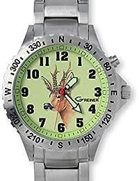 GREINER 1209-GFM Reloj De Pulsera Motivo Corzo