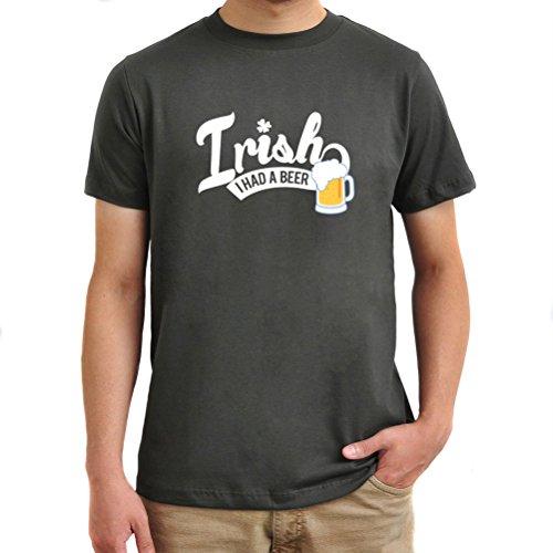 Maglietta Irish I had a beer Argento brunito