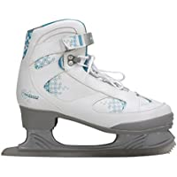 Nijdam 3235 Senior Femenino 39 Patines de patinaje artístico sobre hielo - Patines de hielo (Sénior, Femenino, Patines de patinaje artístico sobre hielo, Azul, Gris, Blanco, Cuero, Acero inoxidable)
