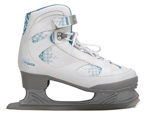 Nijdam Damen Eiskunstlaufschlittschuhe, Weiß/Blau/Silber, 40, 1017757