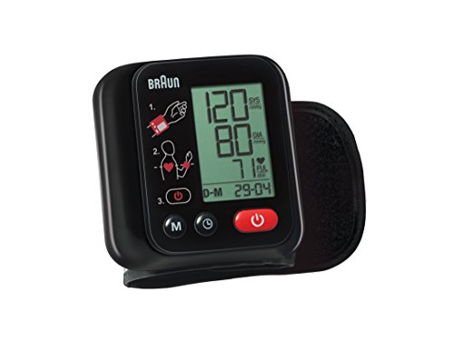 Braun VitalScan 3 BBP2200 Misuratore Automatico della Pressione Arteriosa da Polso, Nero,...