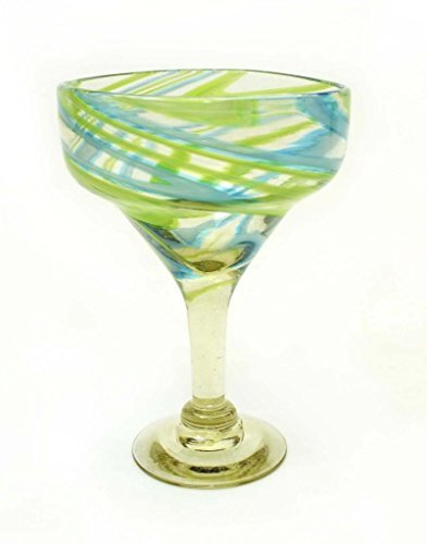set-of-4-aqua-and-lime-swirl-margarita-glasses-recycled-glass-14oz-handmade-by-laredo