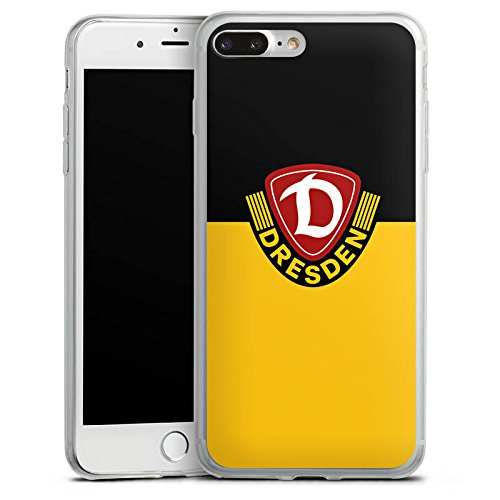 Apple iPhone 8 Plus Slim Case Silikon Hülle Schutzhülle Dynamo Dresden Fanartikel Fußball Silikon Slim Case transparent