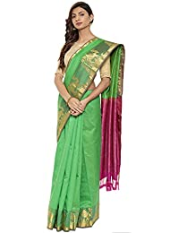 CLASSICATE From the house of The Chennai Silks Traditional Silk Saree (CCMYSS10390 - Classic Green)