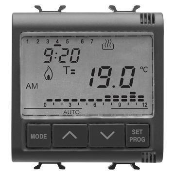 GEWISS GW12703 TERMOESTATO - TERMOSTATO (NEGRO  LCD)