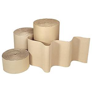 Realpack® | 1 rotolo di carta ondulata | Dimensioni: larghezza 300 mm x 5 m, 10 m, 20 m di lunghezza, abbastanza forte ideale per la protezione | disponibile gratuitamente nel Regno Unito