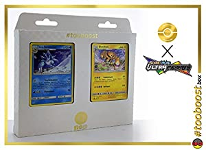 Alolan-Sandamer (Sandlash de Alola) 29/156 Y Elevoltek (Electivire) 44/156 - #tooboost X Sonne & Mond 5 Ultra-Prisma - Box de 10 Cartas Pokémon Aleman + 1 Goodie Pokémon