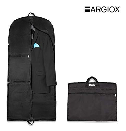 """Argiox ARGIOX Anzugtasche / Anzugsack""""TRAVELLER"""" Mit Staufächern - Kleiderhülle Inklusive Ebook - 17"""" Laptopfach - Knitterfreier Transport - Anzugsack Als Handgepäck"""