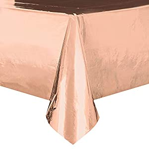 Unique Party 53273 - Mantel, color oro rosa