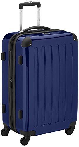 HAUPTSTADTKOFFER - Alex - Hartschalen-Koffer Koffer Trolley Rollkoffer Reisekoffer Erweiterbar, 4 Rollen, TSA, 65 cm, 74 Liter, Dunkelblau