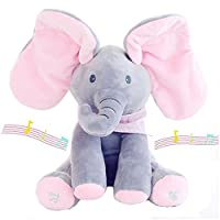 Aideal Flappy Elephant Plush Soft Toys Peek A Boo Pal Animated Sound Toys Baby Kid Doll Gift