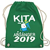 Einschulung und Schulanfang - Kita Abgänger 2019 rennender Hase mit Schultüte - Unisize - Grün - WM110 - Turnbeutel & Gym Bag