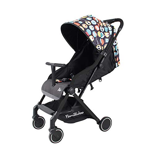 Familidoo Air Pushchair, Black Panda