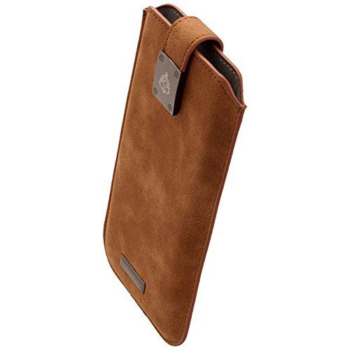 Commander Premium Tasche Milano XXL5.2 - Nubuk Brown Lizenzprodukt + Reinigungstuch iMoBi