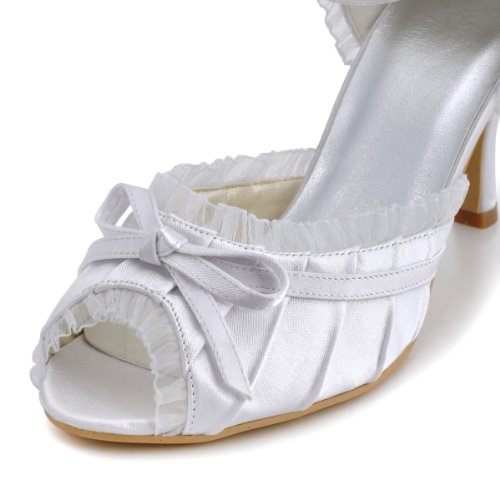 Elegantpark, Scarpe col tacco donna Bianco (bianco)