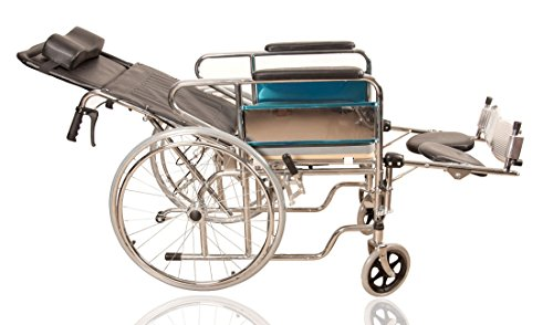 JSB W06 Folding Recliner Patient Wheelchair