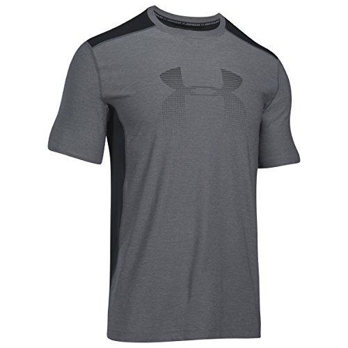 Under Armour T-Shirt HeatGear Fitted Raid Graphic graphite-black (1298816-040) XS grau
