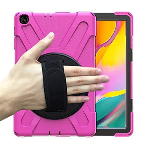 TianranRT♕ Schutzhülle Für Tablet,Schutzhülle Mit Stoßfestem Gurt Für Samsung Galaxy Tab A10.1 (2019) T510/T515,Pink
