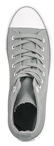 Elara Unisexe High Top Sneakers Chaussures de Sport Tissu Chaussures de Loisirs Grau State