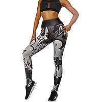 Leggins Mujer Pantalones Yoga Mujeres, Yusealia Cintura Alta Leggins Fitness Pantalones Impresión de Letras Elasticidad Moda Empalmada Pantalones De Correr Leggings EláSticos De Flaco Fitness