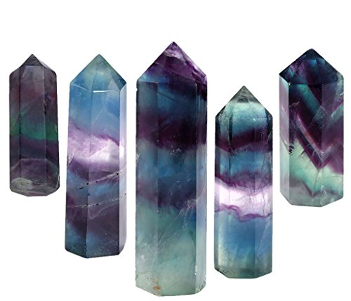 top-plaza-5-pcs-healing-crystal-wands-fluorite-specimen-tumbled-polished-crystal-quartz-point-6-face