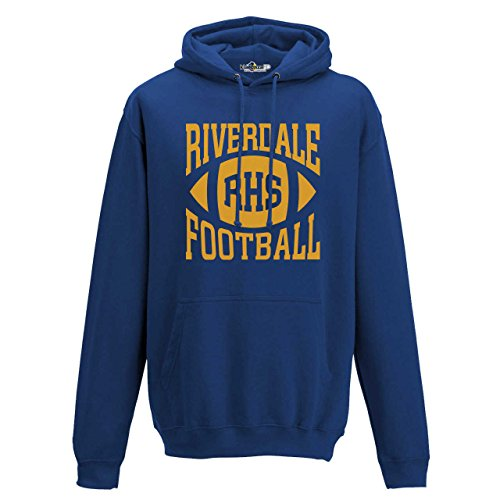 KiarenzaFD Riverdale Archie Andrews Football Season 10  TV Series Double-sided Printing Cult Royal 2  Hooded Sweatshirt  KFCA02013-S-Royal  royal  Small