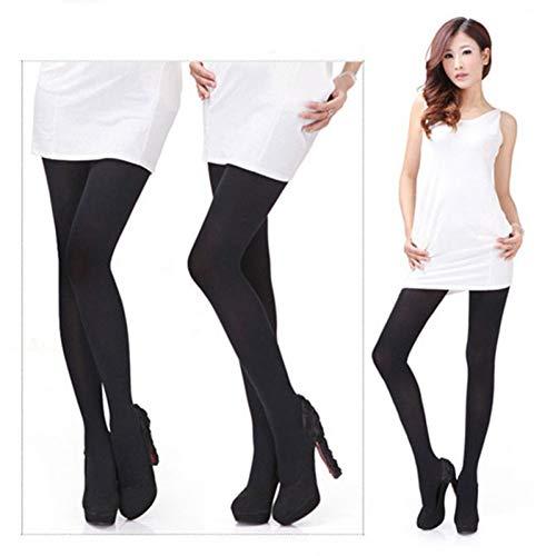 Solid Color Knie-socken (SUZNUO 1 para Frauen Sexy Herbst Elastic Solid Color Leggings Hohe Taille Bottom Warme Strumpfhosen)