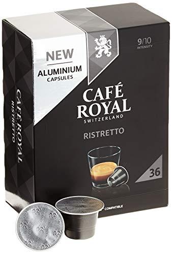 Café Royal Ristretto 36 Nespresso kompatible Kapseln (aus Aluminium, Intensität 9/10)