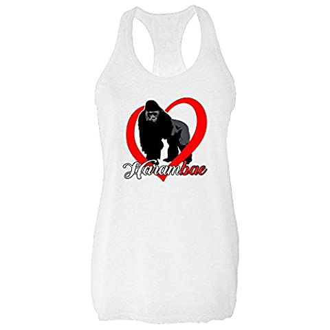 Harambe Is My HaramBAE White M Womens Tank Top by Pop Threads