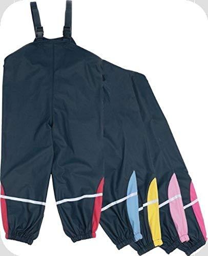 PLAYSHOES trendige Regenhose, Matschhose, Regentraegerhose BASIC (Farbe waehlbar), marine/pink, 92