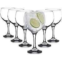 Tivoli Bistro Gin Tonic gafas - 630 ml - juego de 6 - ideal para fiestas y cócteles - diseño elegante - apto para 6 personas
