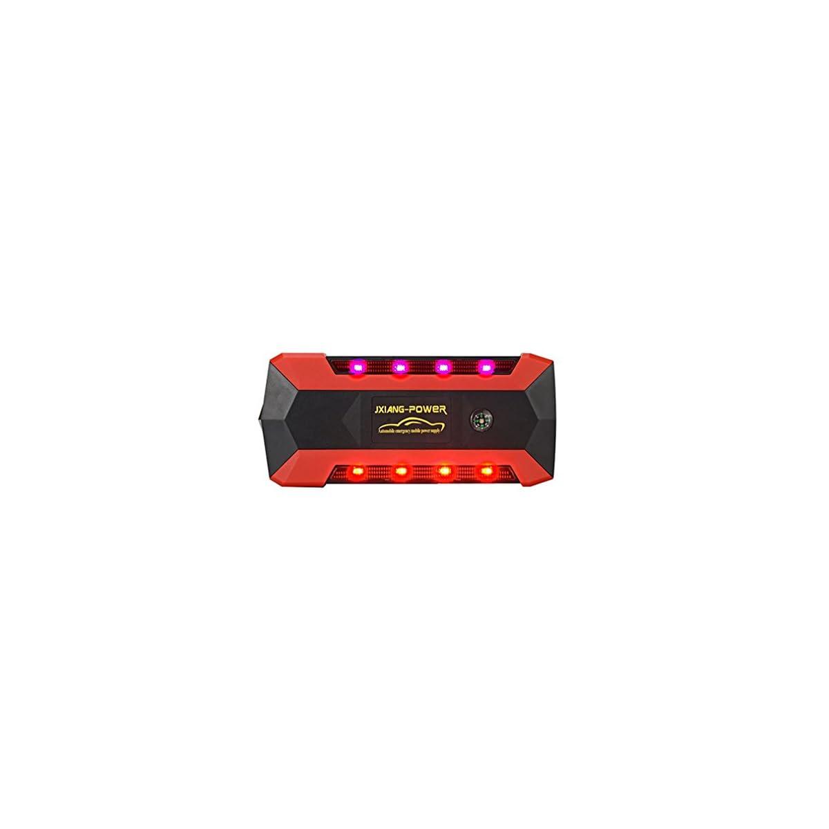 418z3G7vw4L. SS1200  - WJJ- Car Jump Starter 600A Aumento máximo de 13600mAh Fuente de alimentación de emergencia Fuente de emergencia de arranque automático y luz de flash LED ultra brillante para SOS