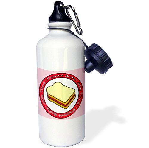 qidushop Peanut Butter Jelly Time Strawberry Jelly White Lustige Edelstahl-Sport-Trinkflasche für Damen Herren Kinder 535 ml