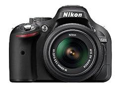 Nikon D5200 24.1MP Digital SLR Camera (Black) with AF-S 18-55mm VRII Lens and AF-S DX VR Zoom-NIKKOR 55-200mm f/4-5.6G IF-ED Twin Lens with Memory Card, Camera Bag