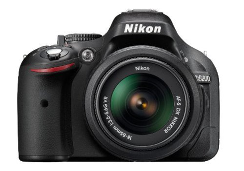Nikon D5200 24.1MP Digital SLR Camera (Black) with AF-S 18-55mm VRII Lens and AF-S DX VR Zoom-NIKKOR 55-200mm f/4-5.6G IF-ED Twin Lens with Memory Card, Camera Bag