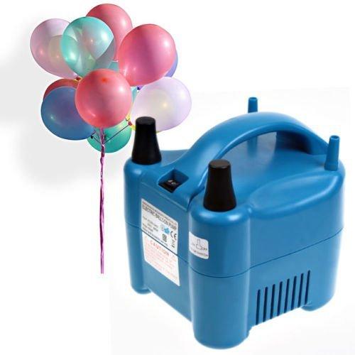 Amzdeal Luftballonpumpe elektrische Ballonpumpe mit automatik & halbautomatisch Modi Ballonaufblasgerät und Tragbare Ballons Pumpe für Geburtstagsfeiern, Party, Hochzeitsfeiern (Luftballons Größe Leben)