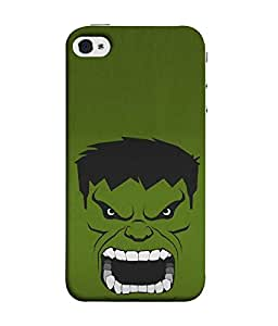 FUSON Designer Back Case Cover for Apple iPhone SE (Brown Blue Colouristic Hulk Cartoon)